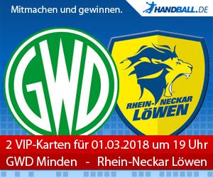 VIP-Karten GWD Minden - Rhein-Neckar Löwen